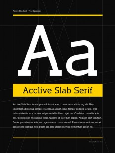 Acclive Slab Serif Typeface & Posters on Typography Served