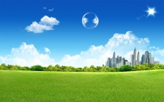 Fantasy Green City - Photography Wallpapers
