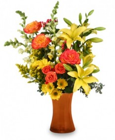 Autumn Excitement Arrangement in Highland, MI - FLOWER FACTORY