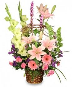 Basket of Memories Floral Arrangement in Highland, MI - FLOWER FACTORY