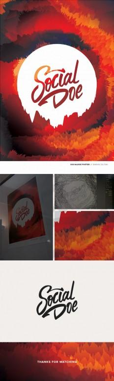 Socialdoe plakat | Inne obrazy | Ilustracja | zal3wa - oryginalne wzory - Stacja Ch?odny (ZCOOL)