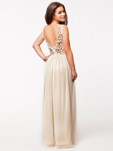 A-line Boat Neck Party Maxi Dress : KissChic.com