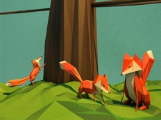 Foxy Family by Jeremiah Shaw
