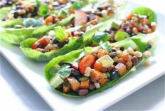 Vegetarian Mexican Salad Boats | I Wanna Nom