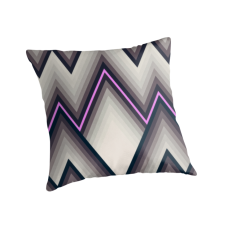 """Triangles V"" Throw Pillows by metron 