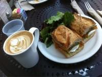 Spanish latte & caprese sammich | Yelp