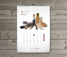 Wall Monthly Calendars 2015 Design Templates, Printable Calendars eps pdf indd | Designs of Calendars - Templates