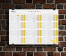 Year Wall Planner Calendar 2015 Design Templates | Yearly Planner Calendar 2015 Template | Designs of Calendars - Templates
