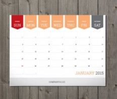 Monthly Planners 2015 Design Templates. Printable and Editable Vector Templates | Designs of Calendars - Templates