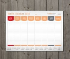 Printable and Editable Weekly Planner Templates | Designs of Calendars - Templates