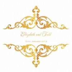 Metallic Regal Bond Square Vertical Invitation - Wedding Invitations