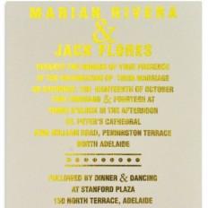 Metallic Forever 5x7 Vertical Invitation Foiled 2 sides - Wedding Invitations