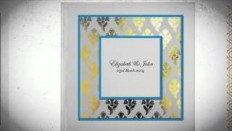 Foiled Stamped Wedding Invitations - YouTube