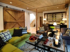 Barn Door Design Ideas | Home Remodeling - Ideas for Basements, Home Theaters & More | HGTV