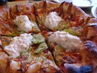 squash blossom pizza | Yelp