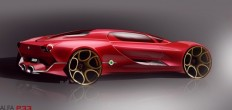 Alfa Romeo Concept Design Sketch by Xavier Dumontier