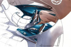 Mazda Shinari Concept Interior Design Sketch