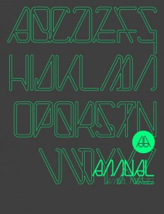 annual typeface on