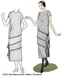 Flapper dress, 1920s fashion, 1920s sewing pattern