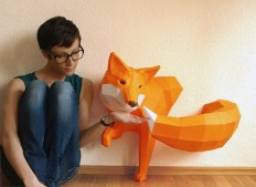 DIY Geometric Paper Animal Sculptures by Paperwolf on Inspirationde