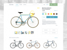 Bicycle product page by Vitaly Medvedev