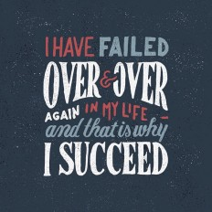 """I have failed over and over and over in my life… and that is why I succeed"" – Michael Jordan on Inspirationde"