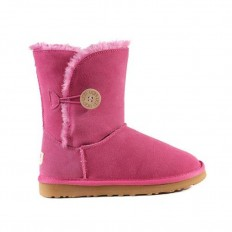 Uggs Kids Bailey Button Short 5991 Cerise Style 705