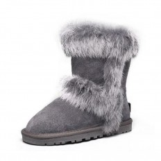 Uggs Kids Fox Fur Short 5281 Grey Style 687