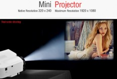 UC28+ 400 Lumens Home Mini LED Projector 320 x 240 Native Resolution 16:9 Aspect Ratio Supports HDMI/USB/VGA/IR/SD Card (WHITE) | Everbuying.com