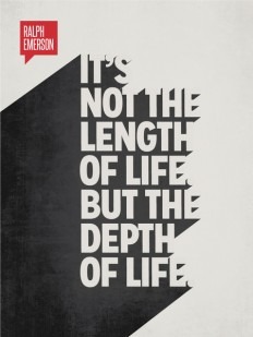 Minimalist Poster Quote Ralph Waldo Emerson on Inspirationde