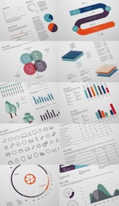 Flat Free Infographic Elements by Wassim | Jakarta Web Developer | Pi…