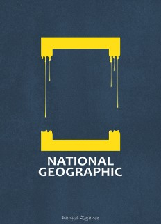 National Geographic Logo Illustration by Danijel Žganec on Inspirationde