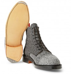 Thom Browne - Herringbone Tweed Derby Boots | MR PORTER
