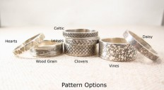 Silver Pattern Ring Silver Jewelry Stacking by emilyjdesign