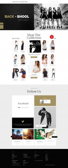 Blvck Fashion Store PSD by MunFactory on Inspirationde