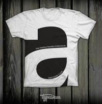 Teeology / Big A Shirt by Typewear