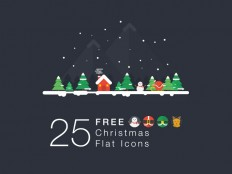 25 Christmas Flat Icons - Made For Designers