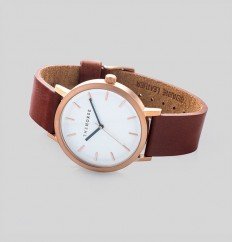 Brushed Rose / Walnut Leather | The Horse