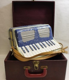 Marotta , Blue & White Accordion - Musical Instruments