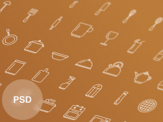Free Kitchen Tools Icon Set by Vitaly Rubtsov