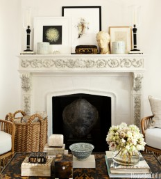 Mantel Decor Ideas - Chic Mantel Style - House Beautiful