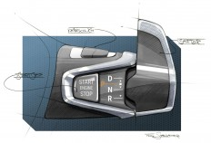 BMW i3 - Interior Design Sketch - Gear selector - Car Body Design