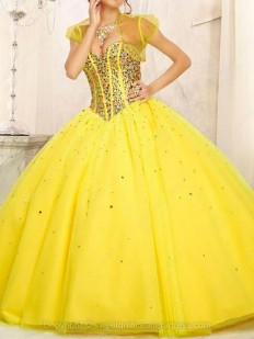 Buy Ball Gown Sweetheart Tulle Satin Floor-length Beading Quinceanera Dresses with various styles - Sweetquinceaneradress