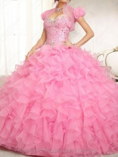 Buy Ball Gown Sweetheart Organza Floor-length Beading Quinceanera Dresses with various styles - Sweetquinceaneradress