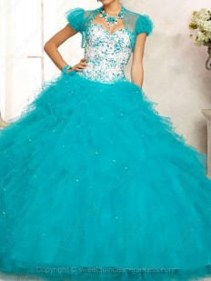 Buy Ball Gown Sweetheart Tulle Floor-length Beading Quinceanera Dresses with various styles - Sweetquinceaneradress