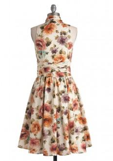 Front Perch Swing Dress in Garden | Mod Retro Vintage Dresses | ModCloth.com