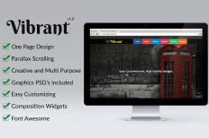 Vibrant - OnePage Parallax Muse Temp ~ Themes on Creative Market