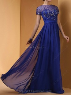 Shop Chiffon Tulle Scoop Floor-length A-line Sequins Ball Dresses in New Zealand-NZD$ 199.19