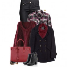 Layering with Marsala - Polyvore
