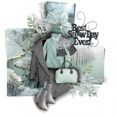 grey & mint snow days - Polyvore